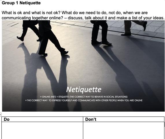 netiquette task